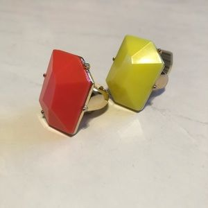 Jewelry - 2 Yellow and Coral Rings One Size